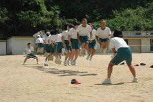 大縄跳び練習